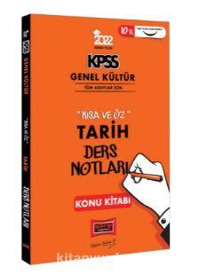 2022 KPSS Genel Kültür Kısa ve Öz Tarih Ders Notları Konu Kitabı