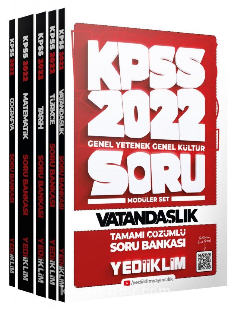 2022 KPSS Genel Yetenek Genel Kültür Tamamı Çözümlü Modüler Soru Bankası