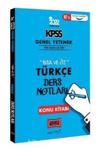 2022 KPSS Genel Yetenek Kısa ve Öz Türkçe Ders Notları Konu Kitabı