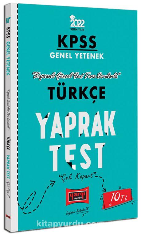 2022 KPSS Lisans Genel Yetenek Türkçe Yaprak Test